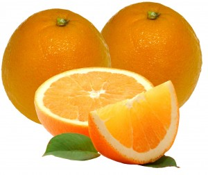 A picture of beautifully cut oranges.